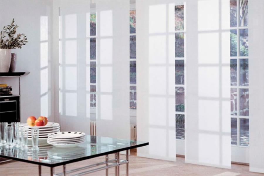 panel blind white