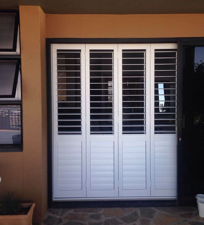 Blockhouse Security Shutters as a room divider