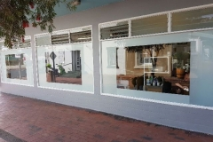 Outdoor Shop Front with Window Film