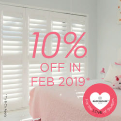 10% off Bedroom Shutters